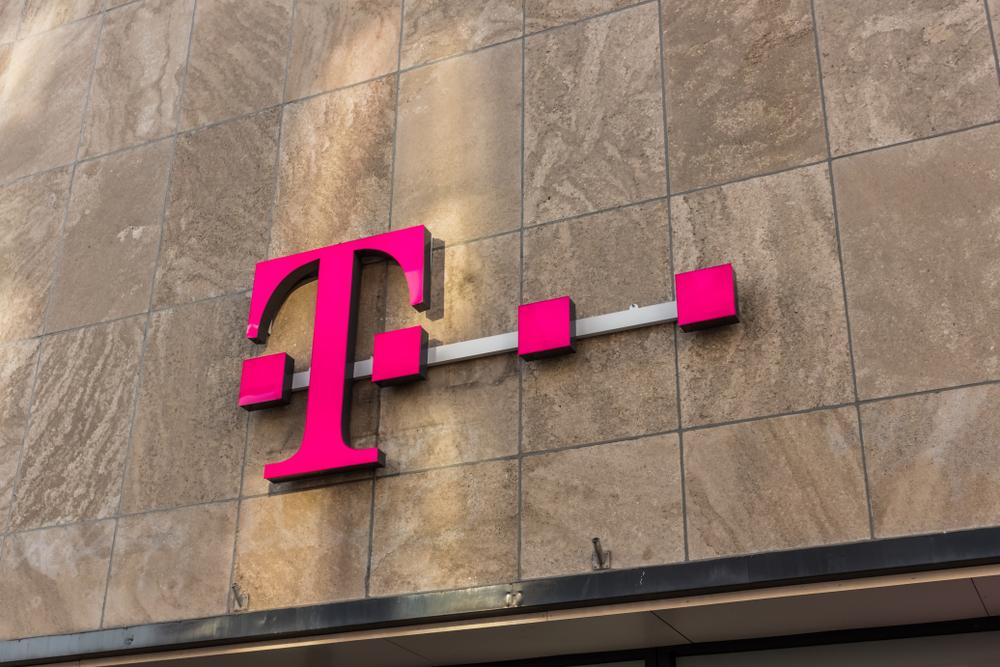 Deutsche Telekom signage on building